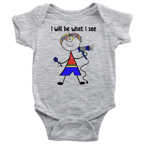 Boy Hairdresser Onesie (1017)