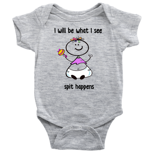 Spit Happens Girl Onesie (6002)