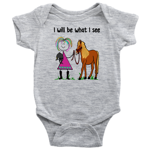 Girl Horseback Riding Onesie (3063)
