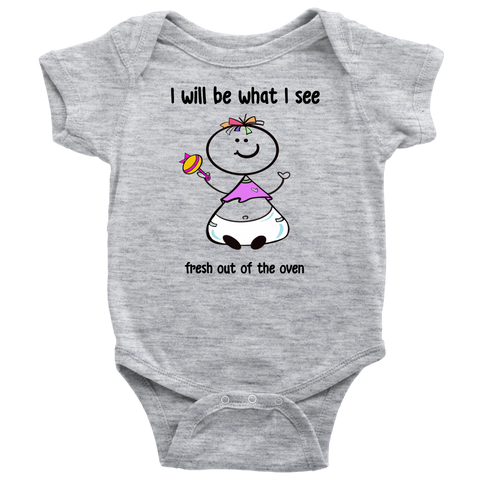 Fresh out of the oven Girl Onesie (6014)