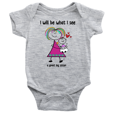 Big Sister Little Sister Onesie (2014)