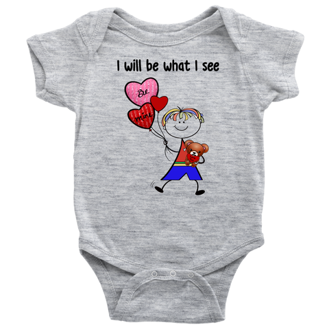 Boy Valentine's Day Onesie (8011)