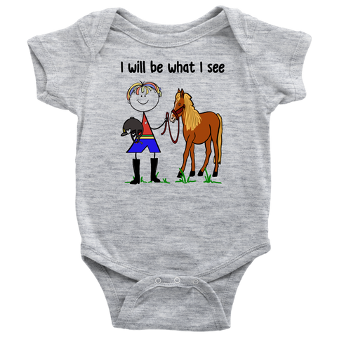 Boy Horseback Riding Onesie (3062)