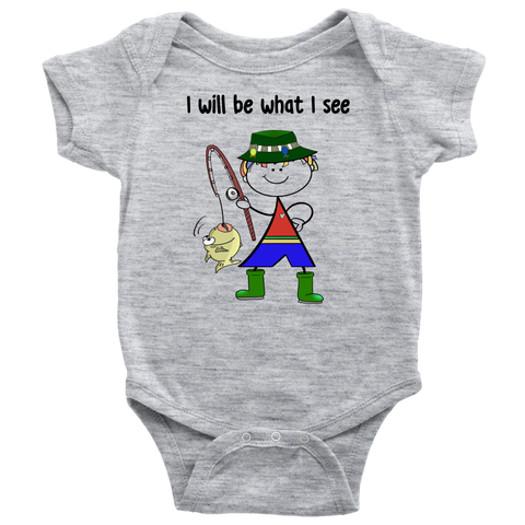 Boy Fishing Onesie (3031)