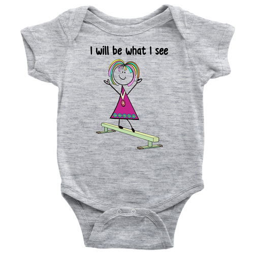 Girl Gymnastics Onesie (3016)