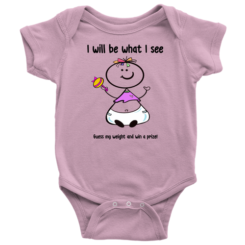 Guess my weight... Girl Onesie (6040)