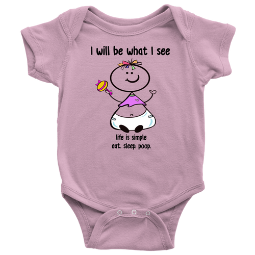 Life is Simple... Girl Onesie (6052)
