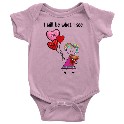 Girl Valentine's Day Onesie (8012)