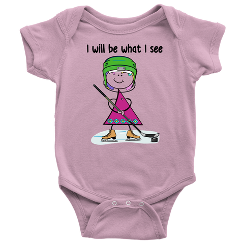 Girl Ice Hockey Onesie (3012)