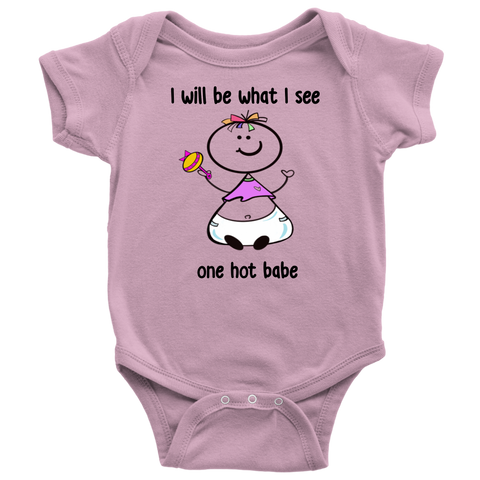 One Hot Babe Girl Onesie (6022)
