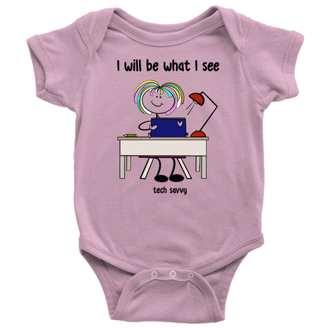 Girl Tech Savvy Onesie (3074)