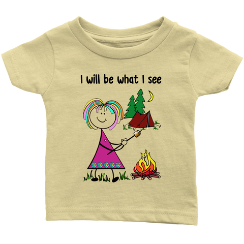 Girl Camping Infant Tee (3043)