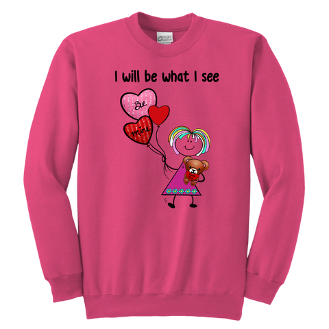 Girl Valentine's Day Youth Sweat (8012)