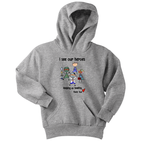 Medical Heroes Youth Hoodie (8701)