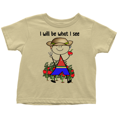 Boy Farmer Toddler Tee (1025)
