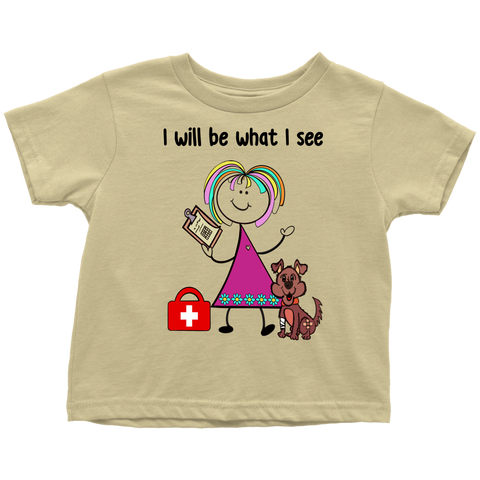 Girl Veterinarian Toddler Tee (1014)