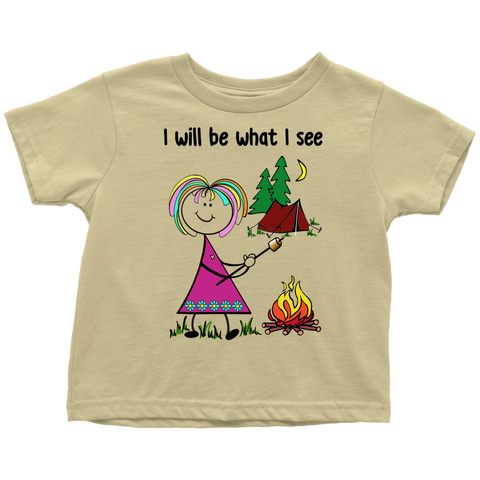 Girl Camping Toddler Tee (3043)