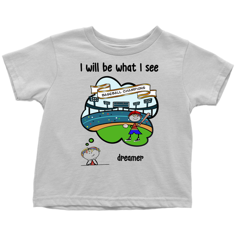 Boy Dreamer Baseball Champion Toddler Tee (3070)