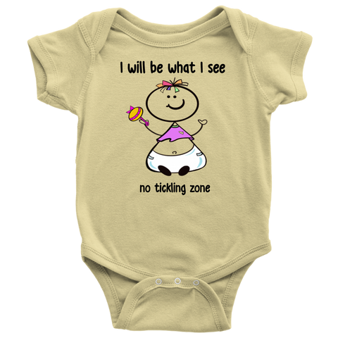 No Tickling Zone Girl Onesie (6025)