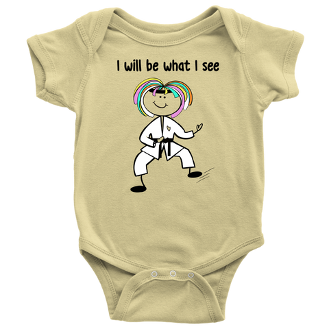 Girl Karate Onesie (3078)