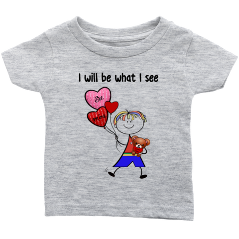 Boy Valentine's Day Infant Tee (8011)