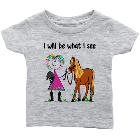 Girl Horseback Riding Infant Tee (3063)