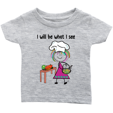 Girl Chef Infant Tee (1035)