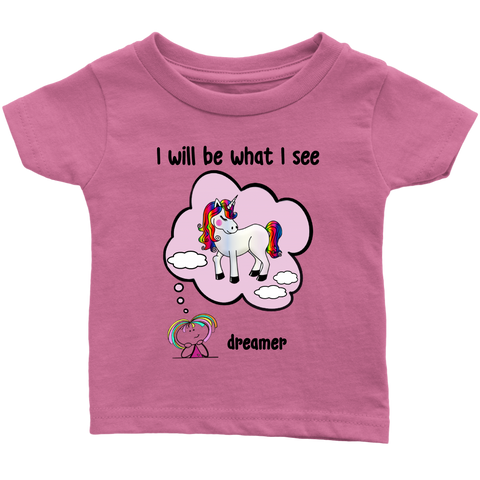 Girl Dreamer Unicorn Infant Tee (3048)