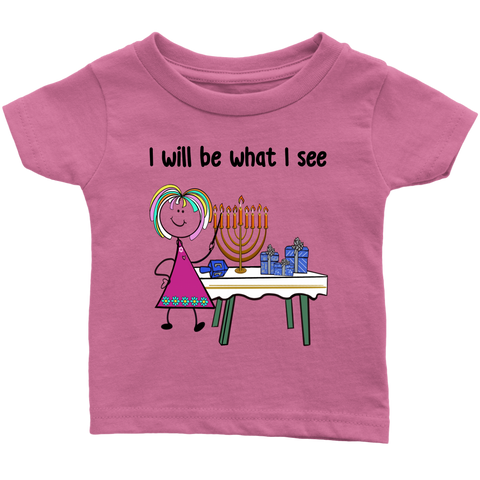 Girl Chanukah Infant Tee (8005)