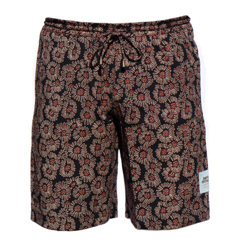 Men's Sporting Swimming Shorts - 1 Barmeri Flowers on Black Co-ord New Swimmer Collection 2020