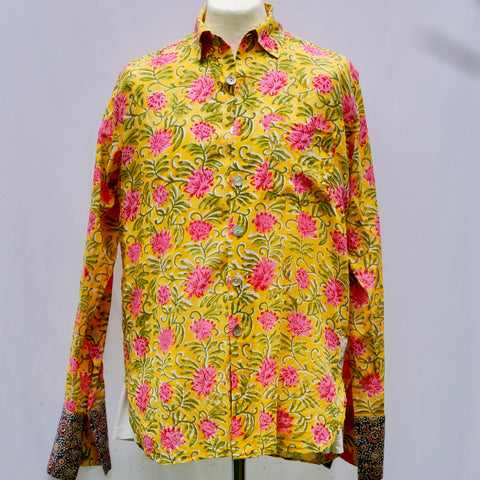 Shirting for Men - 7 Lemon, Lime and Pink Clematis 2019