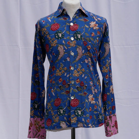 Shirting for Men -13 Dark Blue Floral Coord Shirt              2019