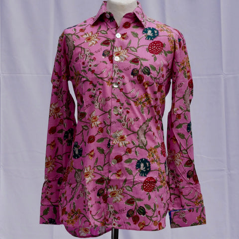 Shirting for Men -15 Pink Floral Coord Shirt              2019