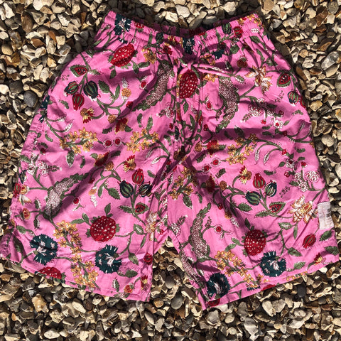 Men's Sporting Swimming Shorts -Pink Co-ord  2019