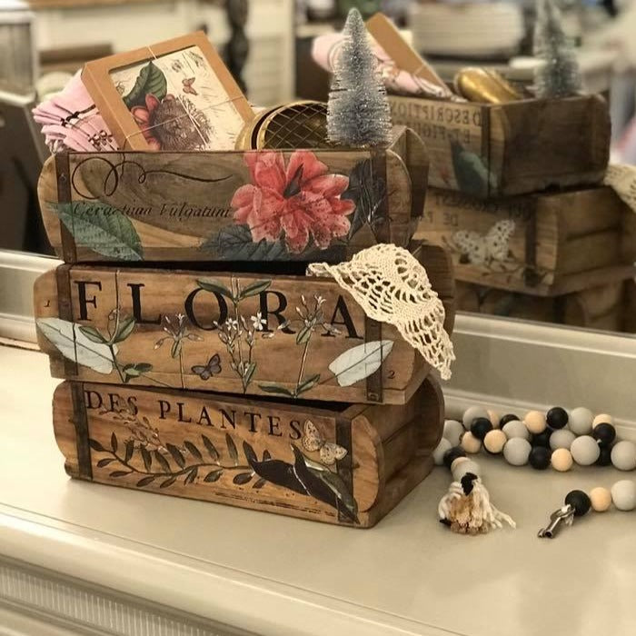 Embellished Brick Molds Workshop Wooden Vintage Brick molds IOD Transfers Farmhouse Inspired Spring Texas
