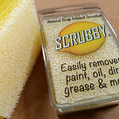 Scrubby Soap -  Lemon citrus cleaner Farmhouse Inspired