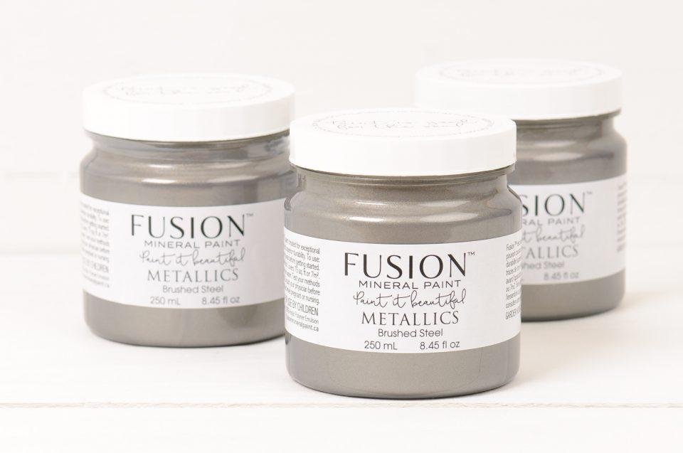Brushed Steel - DIY Fusion Mineral Paint - Farmhouse Inspired