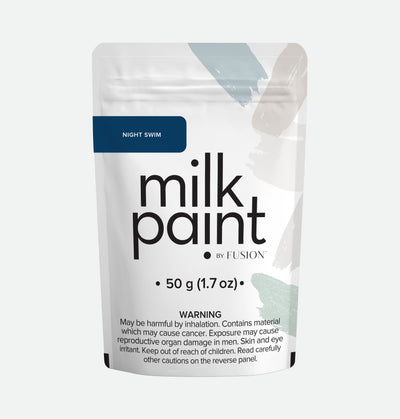Milk Paint by Fusion Night Swim Farmhouse Inspired No VOC Deep Blue