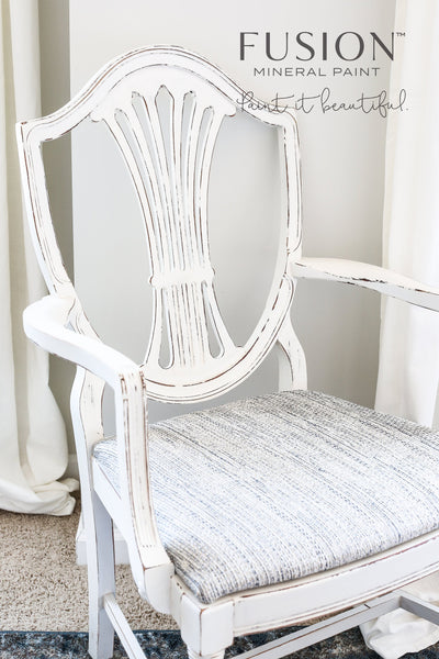 Chair in Raw Silk - DIY Fusion Mineral Paint - Farmhouse Inspired