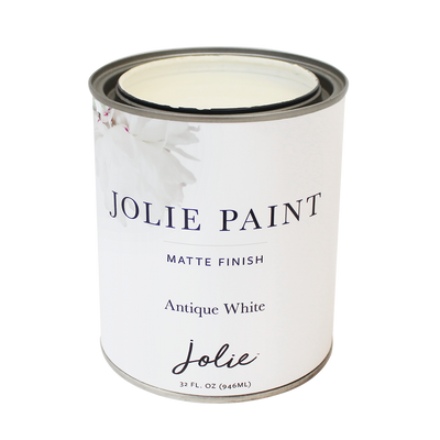 Jolie Paint in ANTIQUE WHITE  Ivory Chalk Paint Farmhouse Inspired