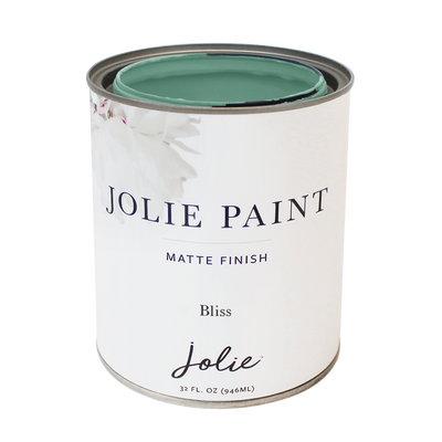 Jolie Paint BLISS  calm and blissful soft, blue-green color  Chalk Paint  Cottage Style French Country Farmhouse Inspired
