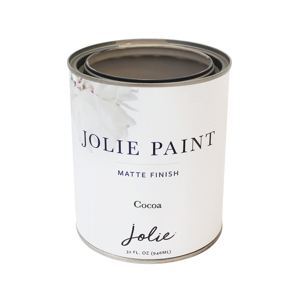 Jolie Paint in COCOA Chalk Paint Neutral  Floor Paint Farmhouse Inspired
