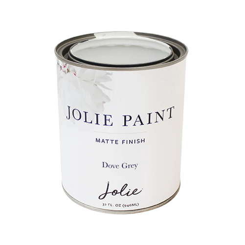 Jolie Paint in DOVE GREY Chalk Paint light warm grey neutral universal hue Farmhouse Inspired