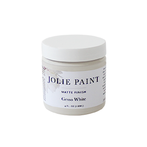 Jolie Paint GESSO WHITE Chalk Paint clean white Jolie's Signature Neutrals Collection Farmhouse Inspired