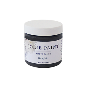 Jolie Paint GRAPHITE soft black Chalk Paint graphite mineral Farmhouse Inspired