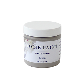 Jolie Paint in LINEN mid-tone grey Chalk Paint Farmhouse Inspired