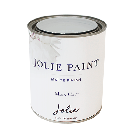 Jolie Paint MISTY COVE  mid-tone grey Chalk Paint Farmhouse Inspired