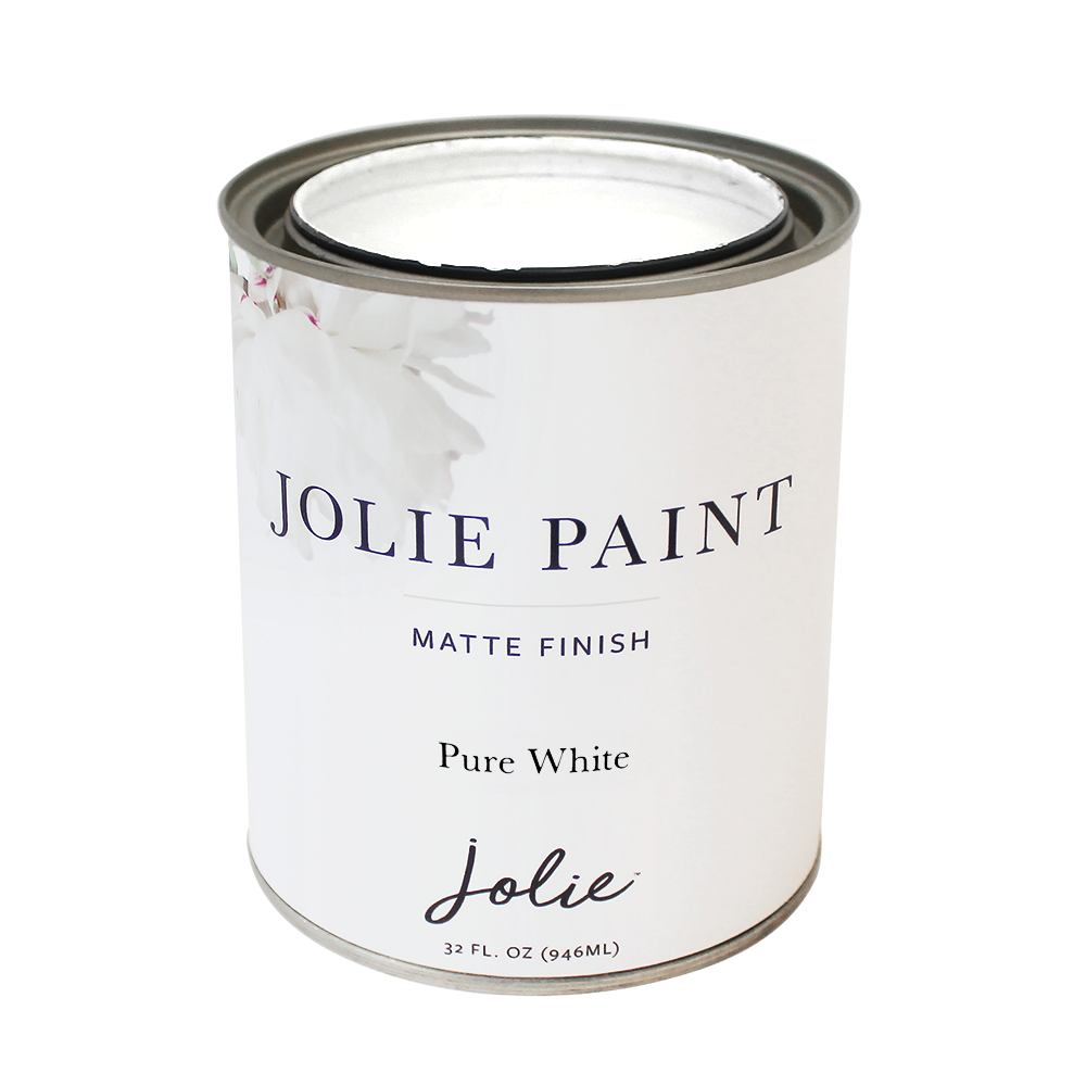 Jolie Paint PURE WHITE Chalk Paint brightest white Farmhouse Inspired