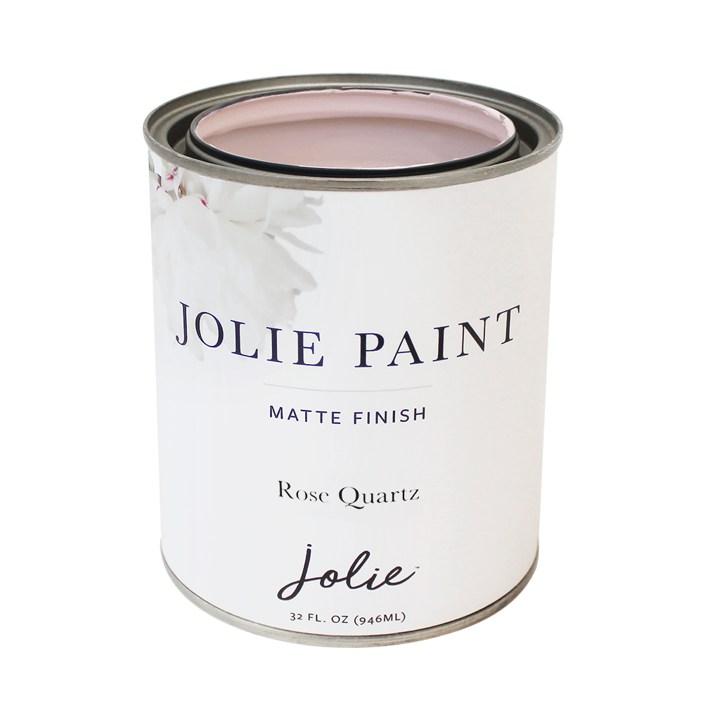 Jolie Paint ROSE QUARTZ Chalk Paint soft light pink color rose quartz  Farmhouse Inspired