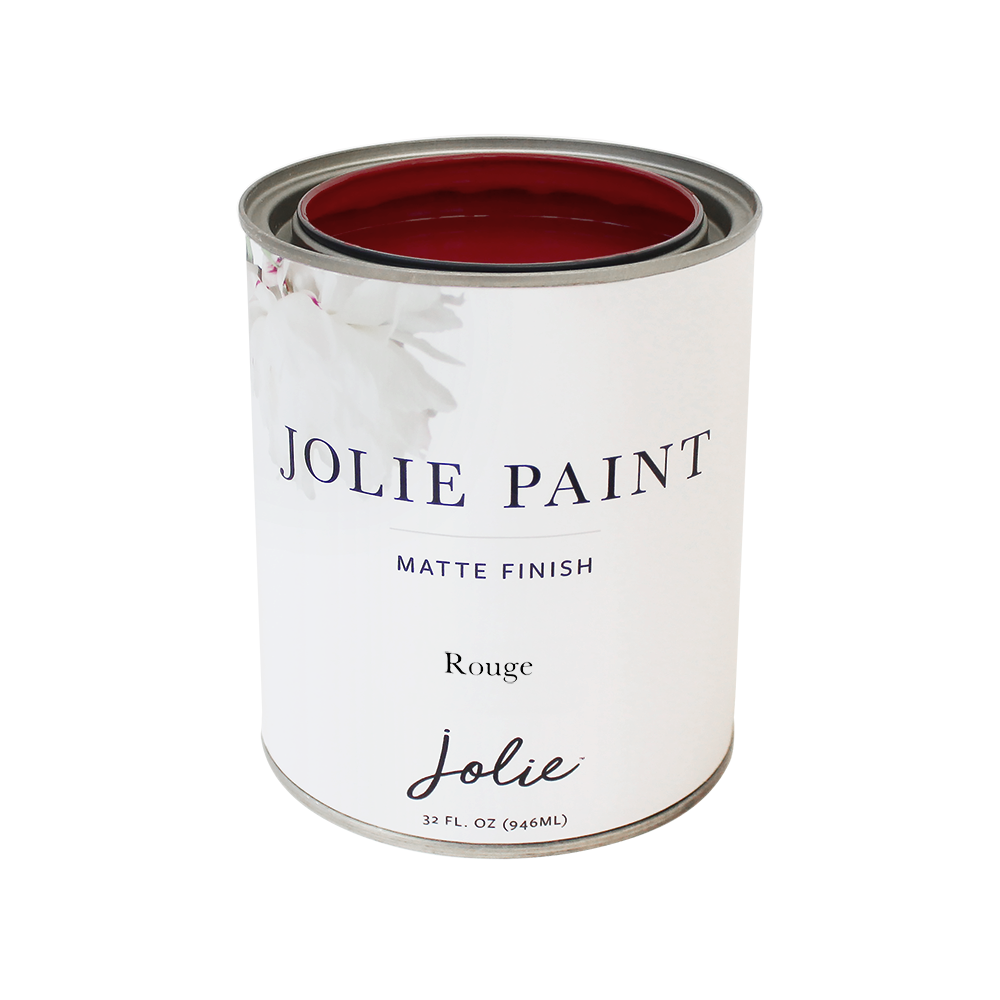 Jolie Paint ROUGE True Vibrant Red Chalk Paint Red Lipstick Parisian Apartment Bold Farmhouse Inspired